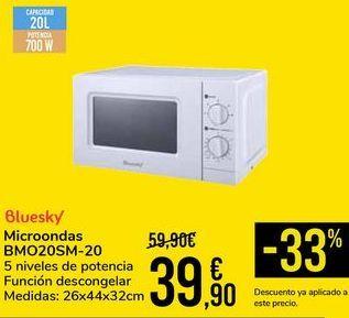 Oferta de Microondas BMO20SM-20 bluesky por 39,9€