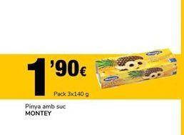 Oferta de Piña en su jugo MONTEY por 1,9€