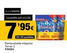 Oferta de Lavavajillas máquina Todo en 1 Finish por 7,95€