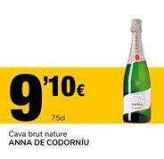 Oferta de Cava brut nature ANNA DE CODORNÍU por 9,1€