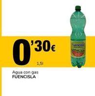 Oferta de Agua con gas FUENCISLA por 0,3€