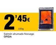 Oferta de Salmón ahumado Noruego OFIDA por 2,45€