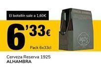 Oferta de Cerveza Reserva 1925 ALHAMBRA por 6,33€
