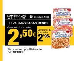 Oferta de Pizza varios tipos Ristorante DR. OETKER por 2,95€