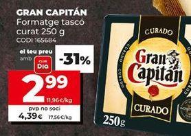 Oferta de Queso curado Gran Capitán por 2,99€