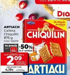 Oferta de Galletas Chiquilín Artiach por 4,19€