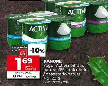Oferta de Yogur Activia por 1,69€