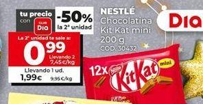 Oferta de Chocolatinas Kit Kat por 1,99€