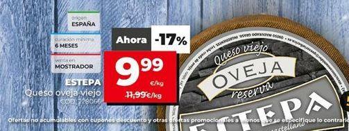 Oferta de Queso de oveja por 9,99€