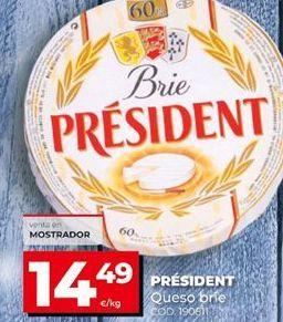 Oferta de Queso brie Président por 14,49€