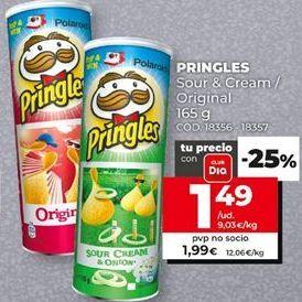 Oferta de Patatas chips Pringles por 1,49€