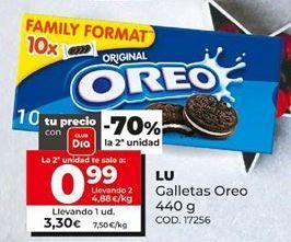 Oferta de Galletas Oreo Lu por 3,3€