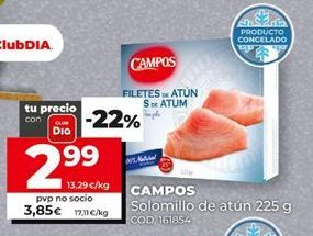 Oferta de Filetes de atún Campos por 2,99€