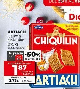 Oferta de Galletas Chiquilín Artiach por 3,75€