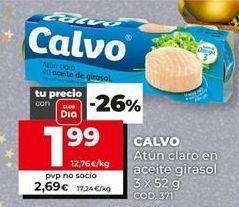 Oferta de Atún en aceite de girasol Calvo por 1,99€