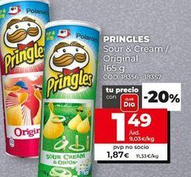 Oferta de Patatas fritas Pringles por 1,49€