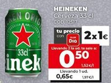 Oferta de Cerveza Heineken por 0,61€