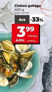 Oferta de Almejas por 3,99€