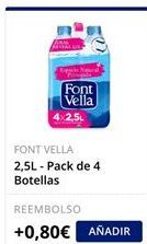 Oferta de Pack de 4 Botellas Font Vella  por