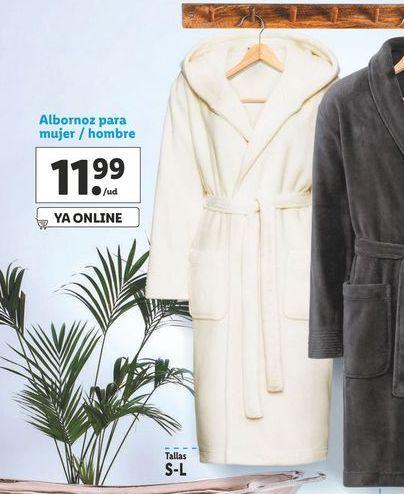 Oferta de Albornoz para mujer / hombre por 12,99€