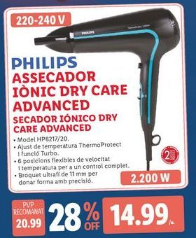 Oferta de Secador Philips por 14,99€