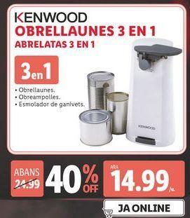 Oferta de Abrelatas Kenwood por 14,99€