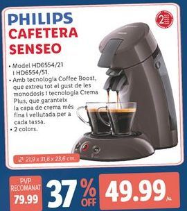 Oferta de Cafeteras senseo Philips por 49,99€