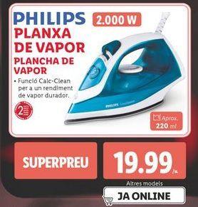 Oferta de Plancha de vapor Philips por 19,99€