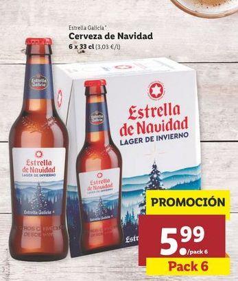 Oferta de Cerveza Estrella Galicia por 5,99€