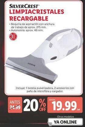 Oferta de Limpiacristales recargable SilverCrest por 19,99€
