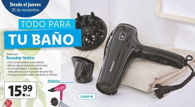 Oferta de Secador iónico SilverCrest por 14,99€