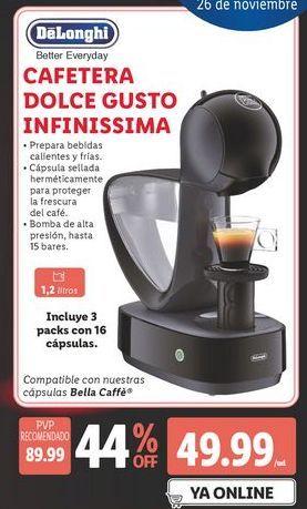 Oferta de Cafetera dolce gusto DeLonghi por 49,99€