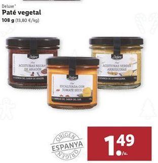Oferta de Paté vegetal Deluxe por 1,49€