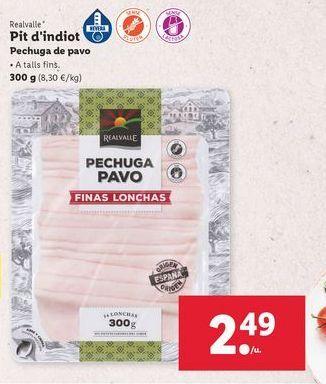 Oferta de Pechuga de pavo Realvalle por 2,49€