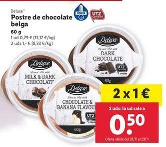 Oferta de Postres de chocolate Deluxe por 1€
