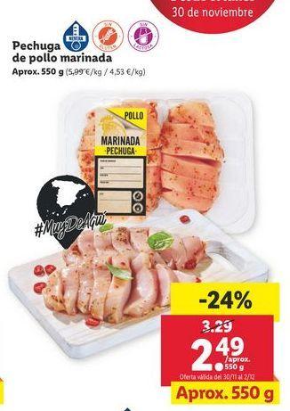 Oferta de Pechuga de pollo por 2,49€