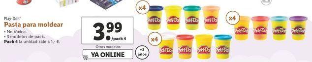 Oferta de Pasta para moldear Play-Doh por 3,99€