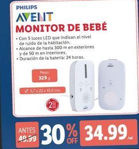 Oferta de Monitor de bebe Avent por 34,99€