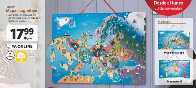 Oferta de Mapa magnético Playtive por 17,99€
