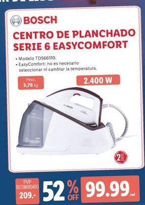 Oferta de Centro de planchado Bosch por 99,99€