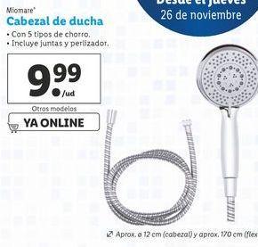 Oferta de Cabezal de ducha miomare por 9,99€