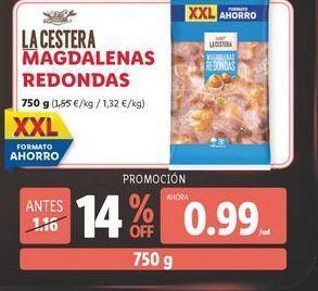Oferta de Magdalenas La Cestera por 0,99€