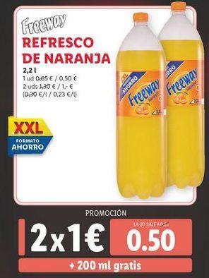 Oferta de Refresco de naranja Freeway por 0,5€