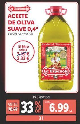 Oferta de Aceite de oliva La Española por 6,99€