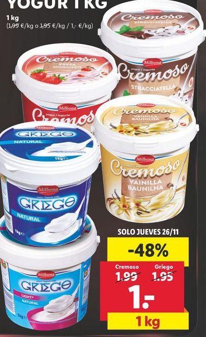 Oferta de Yogur por 1€