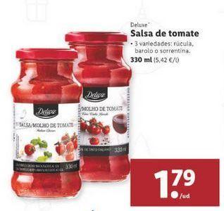 Oferta de Salsa de tomate Deluxe por 1,79€