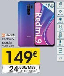 Oferta de Redmi 9 purple  Xiaomi por 149€