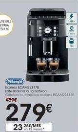 Oferta de Cafetera automática express ECAM221178 DeLonghi por 279€
