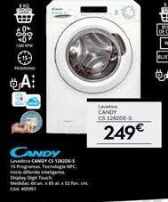 Oferta de Lavadora carga frontal Candy por 249€