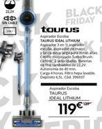 Oferta de Aspirador escoba Taurus por 119€